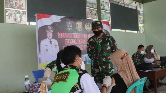 Serbuan Vaksinasi Covid 19, Kodim 0410 Bandar Lampung Gelar Vaksin Gratis untuk Warga Umum