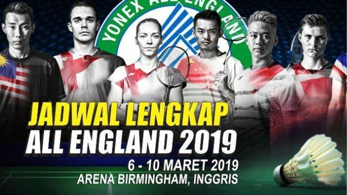 Video Live Streaming TVRI All England 2019: Jonatan Christie Berlaga Malam Ini Pukul 22.00 WIB