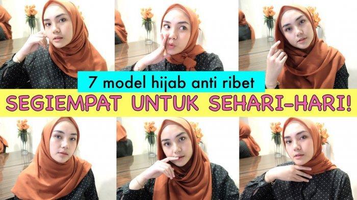 Video Tutorial Hijab Lebaran 2020 Jilbab Segi Empat Bahan Voal Ala Ranie Dwi Karlina Tribun Lampung