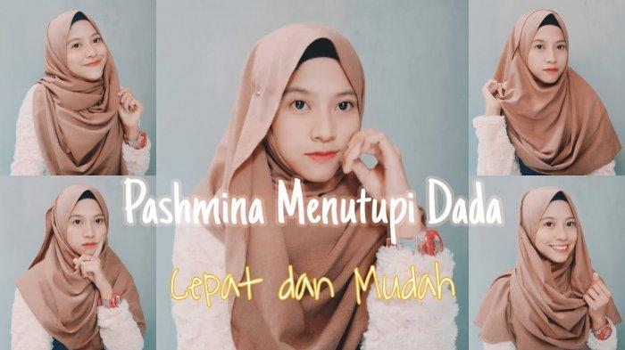 Video Tutorial Hijab Menutup Dada Pakai Pashmina Lebaran 2020 5 Style Ala Fauziah Septiani Tribun Lampung