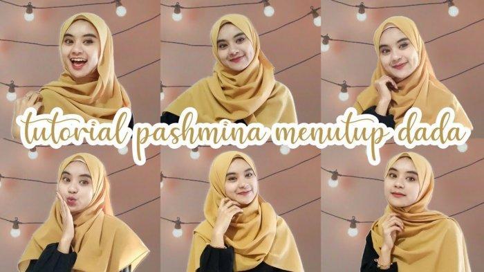 Tutorial Hijab Lebaran 2020 Pashmina Menutup Dada Ala Mita 6 Style Hijab Syari Kekinian Tribun Lampung