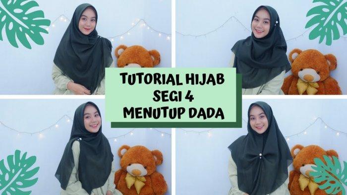 Tutorial Hijab Lebaran 2020 Vaninda Aidina 5 Style Hijab Segi Empat Bahan Voal Menutup Dada Halaman All Tribun Lampung