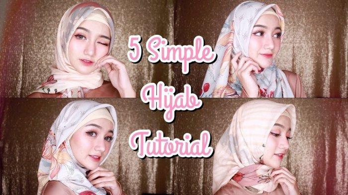 Video Tutorial Hijab 5 Style Hijab Segiempat Bahan Voal Untuk Lebaran 2019 Tribun Lampung