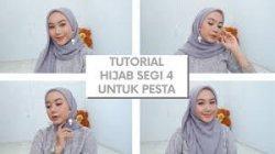 Tutorial Hijab Lebaran 2020 Jilbab Segi Empat Bahan Corn Ala Vaninda Aidina Halaman All Tribun Lampung
