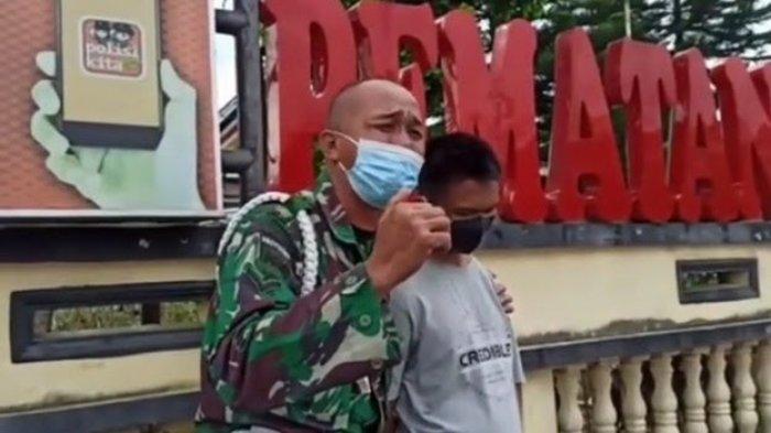 Viral Anggota TNI di Sumut Menangis Buntut Kasus Tangan Anaknya Putus