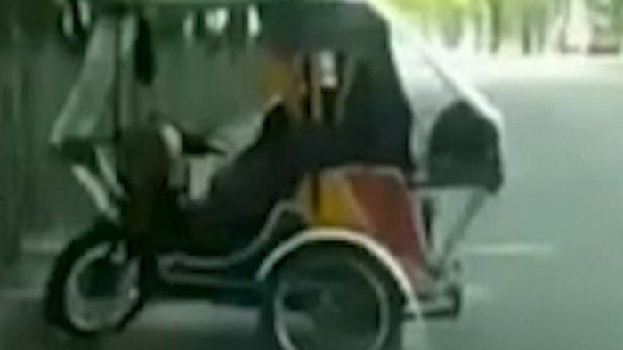 VIDEO Viral Becak Goyang di Medan, Terlihat Kepala Wanita Maju Mundur, Polisi Turun Tangan