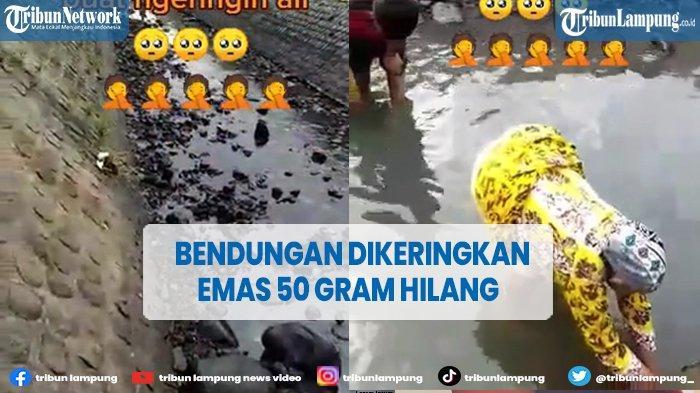 Video Viral Bendungan Dikeringkan, Diduga Kalung Emas 50 Gram Hilang saat Mandi