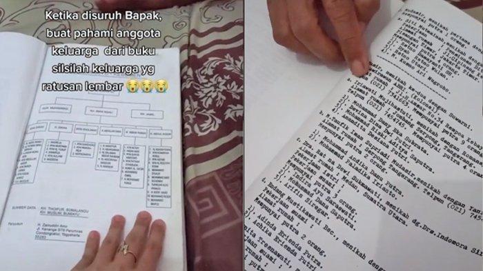 Video Viral Buku Silsilah Keluarga, Mulai dari Kelahiran Tahun 1.800 hingga Sekarang
