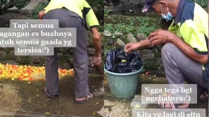 Viral Dagangan Penjual Es Buah Tumpah Tak Bersisa Sebelum Dijual