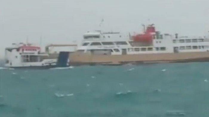 Detik-detik Kapal KMP Namparos Tabrak KM Nusantara 6 di Kupang