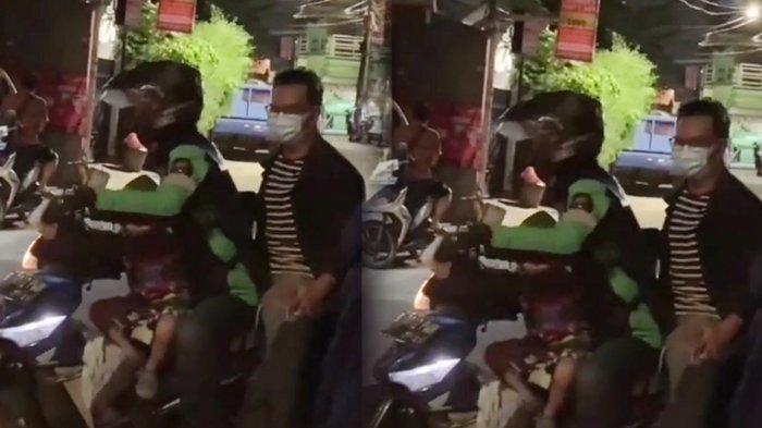Viral Driver Ojol Bawa Anak saat Jemput Penumpang