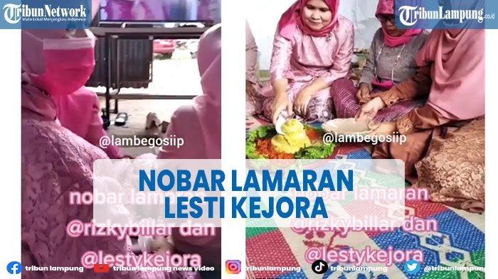 Viral Emak-emak Nobar Lamaran Lesti Kejora dan Rizky Billar sampai Potong Tumpeng