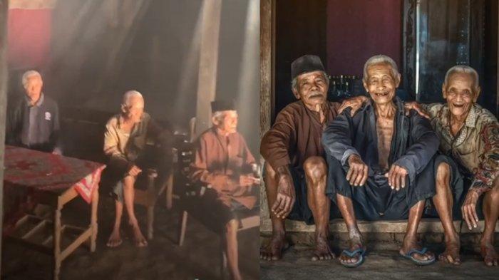 Viral Foto Kisah Tiga Kakek Bersahabat Sejak Kecil, Silaturahmi Buat Semangat Hidup Lebih