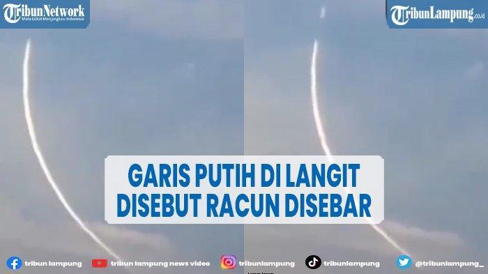 TNI AU Angkat Bicara Soal Garis Putih di Langit Jagakarsa, 'Itu Hoaks'