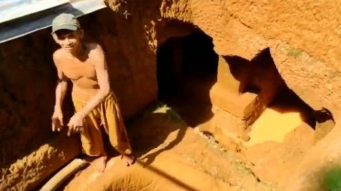 VIDEO Viral Kakek di Bone Buat Bangunan di Bawah Tanah, Mirip seperti di Film