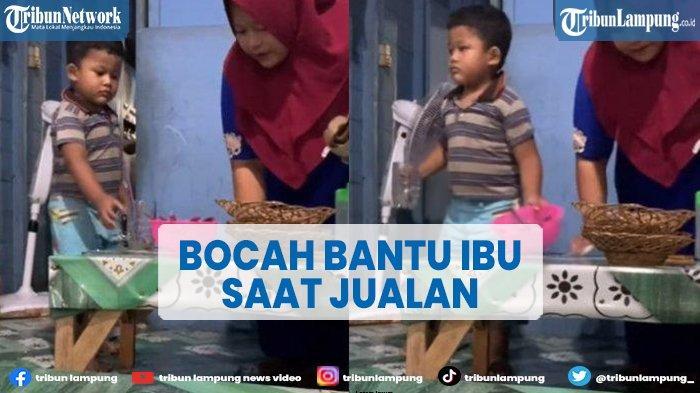Viral Kisah Bocah di Kalteng Berusaha Bantu Ibu saat Jualan