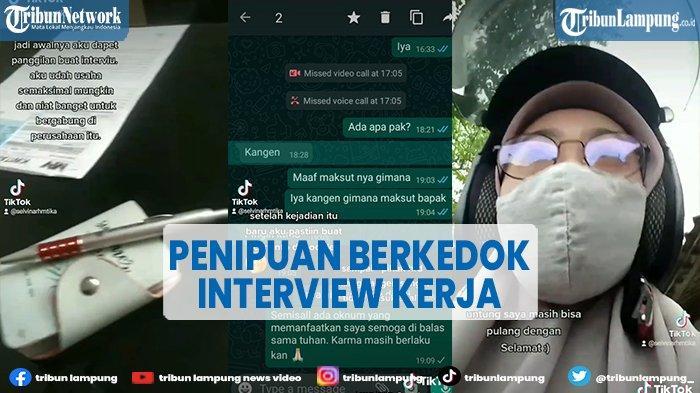 Viral Wanita Jadi Korban Penipuan Modus Wawancara Kerja