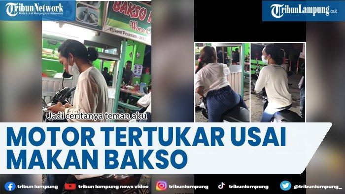 Viral Kisah Motor Tertukar setelah Pemiliknya Makan di Warung Bakso