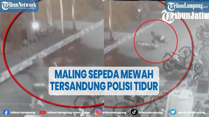 Maling Batal Bawa Kabur Sepeda Rp 20 Juta Gara-gara Polisi Tidur