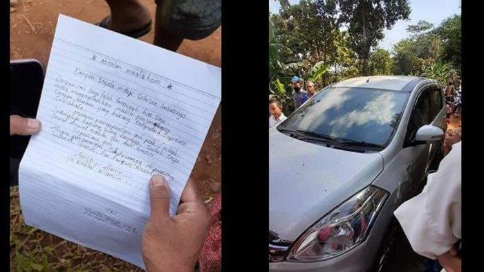 Kembalikan Mobil Curian, Maling Tulis Surat: 'Tertanda Hamba Tuhan yang Tak Luput dari Dosa'