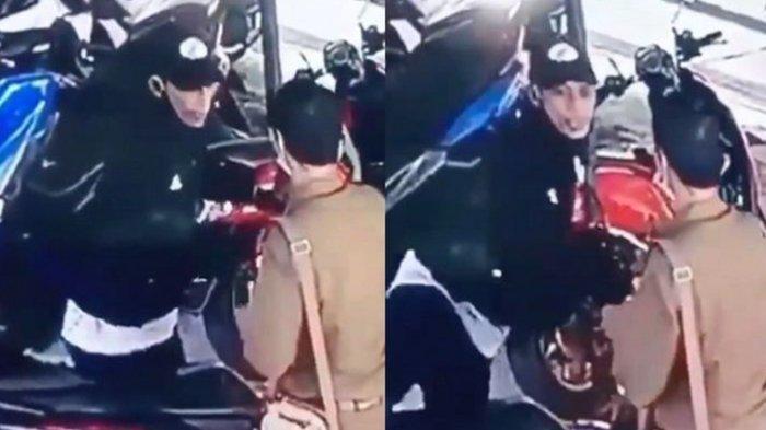 Viral Video Pencuri Motor Lari Terbirit-birit Aksinya Kepergok Pemilik