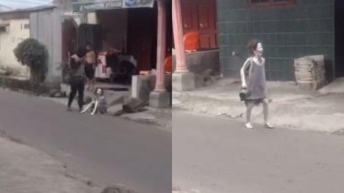 Video Viral Diduga Dipaksa Ngamen, Bocah Manusia Silver Nangis di Pinggir Jalan