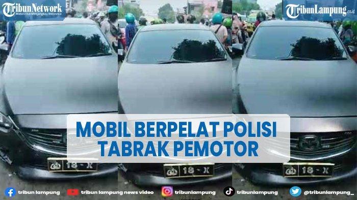 Mobil Polisi Tabrak Wanita Pengendara Motor, Saksi Sebut Mobil Melaju Kencang
