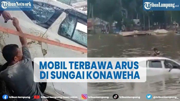 Viral Mobil Sigra Terseret Arus Sungai di Sulawesi Tenggara, 3 Orang Meninggal Dunia