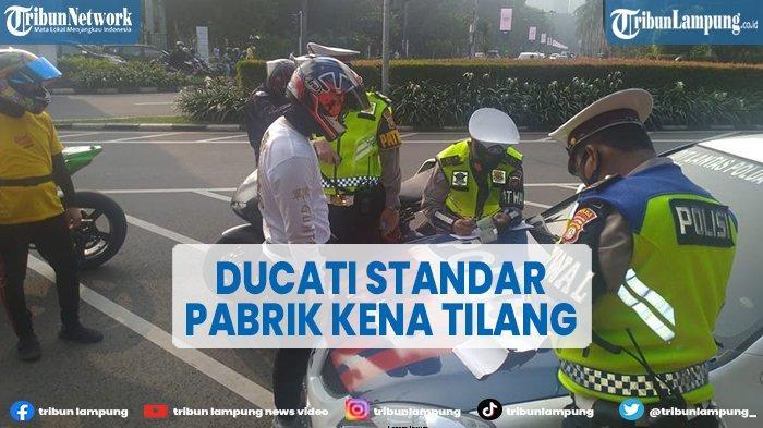 Motor Ducati Standar Pabrik Kena Tilang Gara-gara Knalpot Racing, Polisi Akui Salah