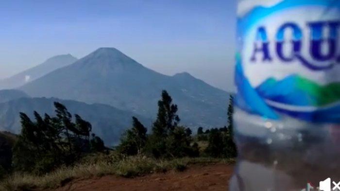 Viral Pemandangan Gunung Mirip Logo Aqua, Danone Beri Penjelasan