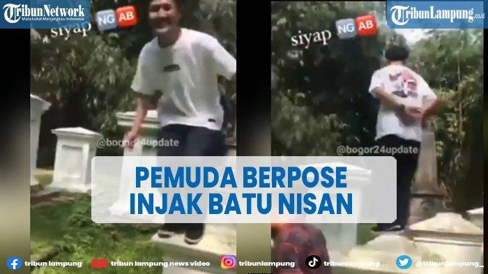 Viral Pemuda Pose Injak Batu Nisan Makam Belanda di Kebun Raya Bogor