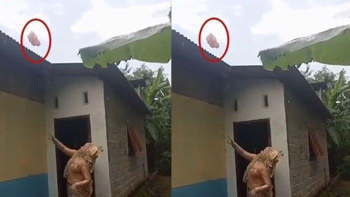 VIRAL Pengantin Wanita Lempar Celana Dalam Bekas ke Atap Rumah, Tujuannya Terungkap