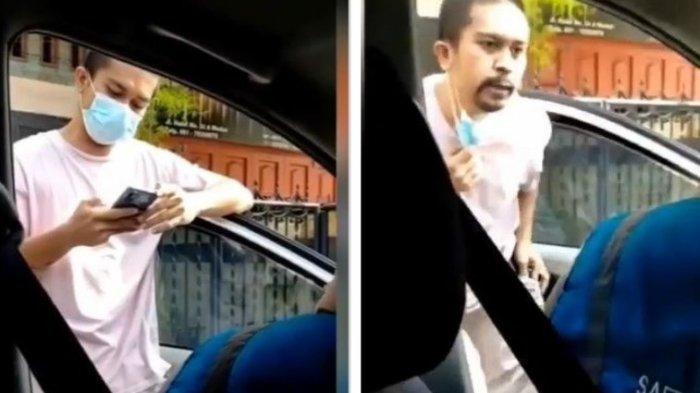 Pria yang Galak Saat Ludahi Petugas PLN, Kini Lesu di Kantor Polisi