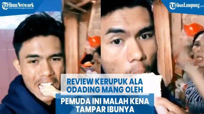 VIDEO Viral Review Kerupuk ala Odading Mang Oleh, Pemuda