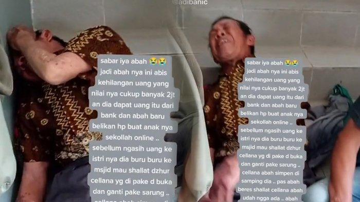 Viral Video Tukang Becak Menangis Uangnya Dicuri Saat Salat Zuhur