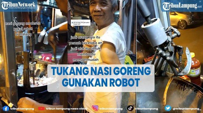 Viral Tukang Nasi Goreng Gunakan Robot Saat Memasak
