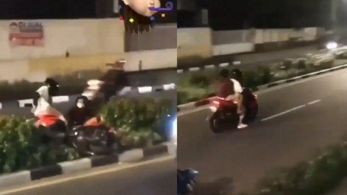 Viral Polisi Lakukan Razia, Pemotor Tabur Kocar-Kacir di Jalanan