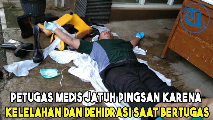 Viral Petugas Medis Jatuh Pingsan karena Kelelahan dan Dehidrasi saat Bertugas