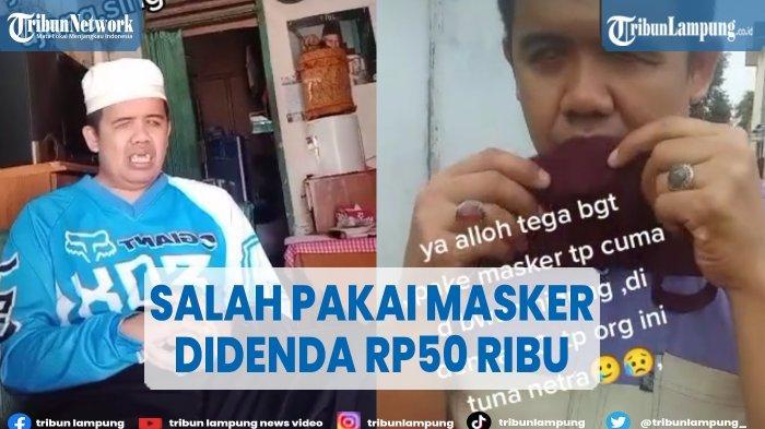 Viral Pria Tunanetra Didenda Rp 50 Ribu karena Salah Pakai Masker