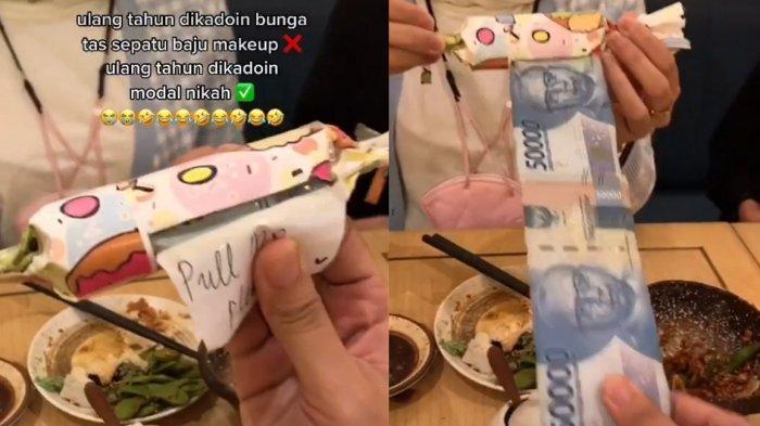 Viral Video Wanita Dapat Kado Modal Nikah Rp 500 Ribu dari Teman