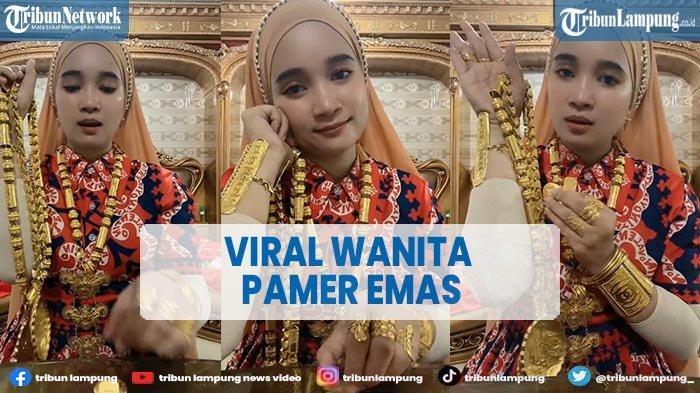 Viral Video Emak-emak di Palembang Pamer Koleksi Emas di Tubuhnya