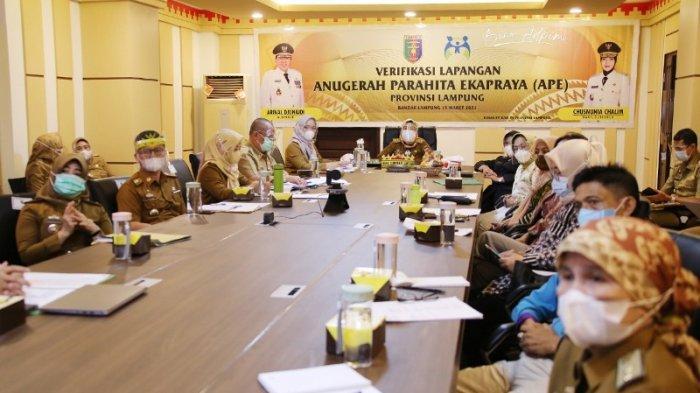 Wagub Lampung Nunik Dorong Semua OPD Raih Penghargaan APE Tahun 2021