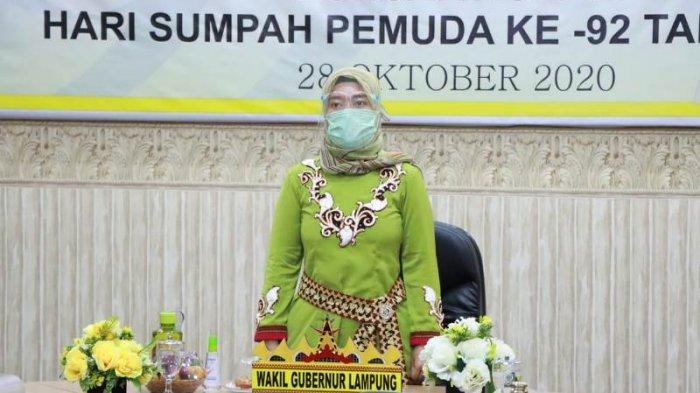 Wagub Lampung Nunik Peringati Hari Sumpah Pemuda Bersama Presiden Secara Virtual