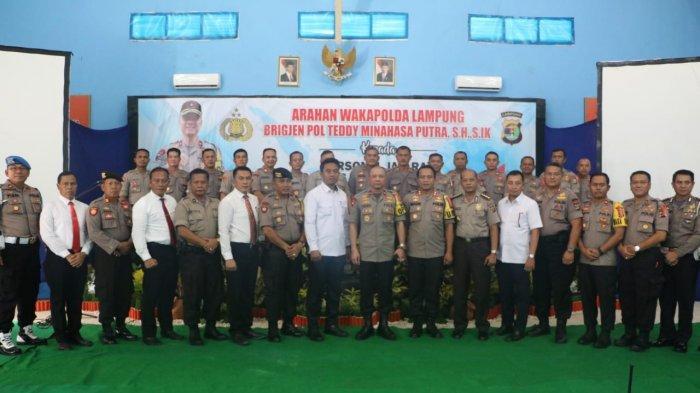 Brigjen Pol Teddy Minahasa Harapkan Pemilu Aman dalam Kuker ke Polres Lamteng