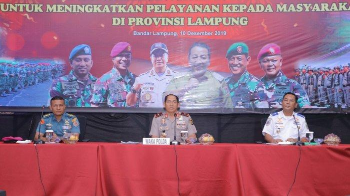 Wakapolda Lampung Pimpin Langsung Rapat Koordinasi Lintas Sektoral Bidang Opsnal Tahun 2019