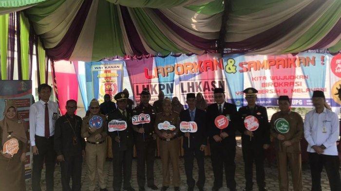 Wakapolres Way Kanan Hadiri Upacara Peringatan Hakordia di Pemkab Way Kanan