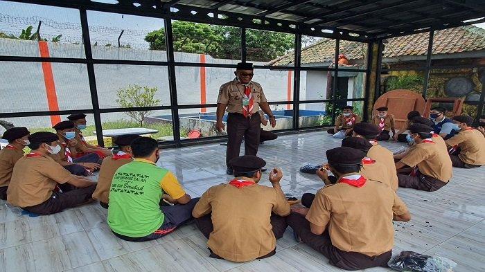 Warga Binaan Lapas Kalianda Lampung Ikut Pelatihan Pembinaan Kepramukaan