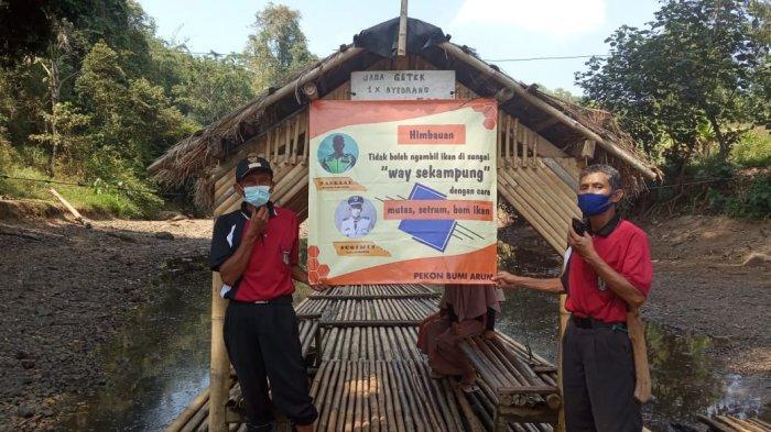 Warga Pringsewu Dilarang Jaring Ikan Pakai Racun di Sungai Way Sekampung Lampung