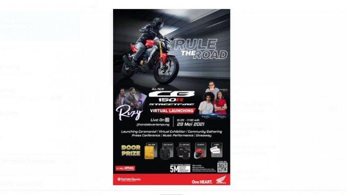 Tunas Honda Lampung Gelar Virtual Launching CB150R Streetfire