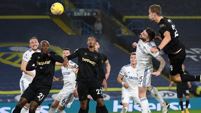 Jadwal Liga Inggris West Ham vs Leeds,Los Blancos Rentan di Lini Belakang